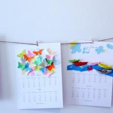 Calendario feito a man