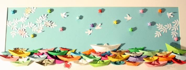 mimadriña cadro origami